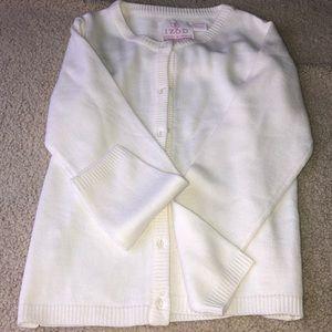 Dainty, white school sweater.☀️
